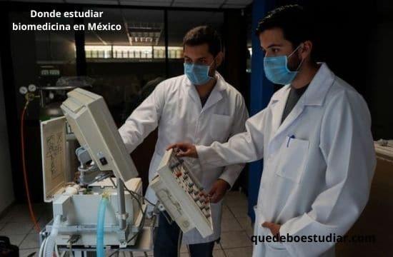 Donde estudiar biomedicina en México