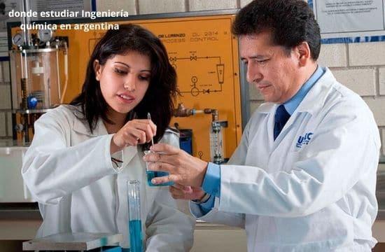 Universidades en donde estudiar Ingeniería química en argentina