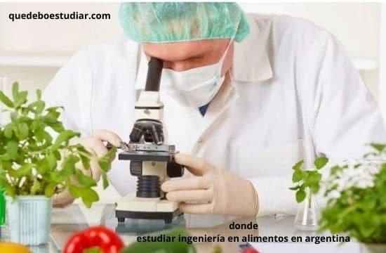 Universidades en donde estudiar ingeniería en alimentos en argentina